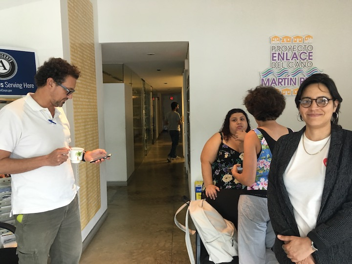 photo of first visit to project partner enlace