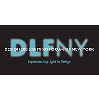 logo for designers lighting forum NY