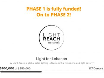 fundraiser page showing $100,000 has been raised
